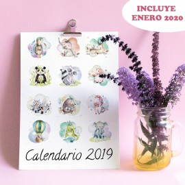 Calendario dulces animales 2019