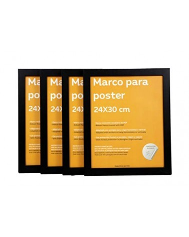 4 Marcos negros 24x30