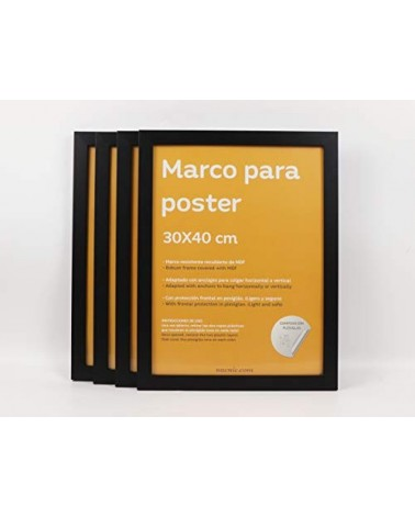 4 Marcos negros 30x40